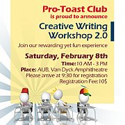 Creative Writing Workshop 2.0 with Toastmasters Lebanon