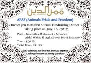 APAF first ANNUAL fundraising Dinner
