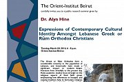 Seminar By Dr. Alyn Hine at Orient-institut Beirut