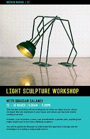 Light Sculpture Worshop with Ghassan Salameh in Beith Waraq