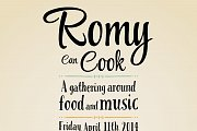 Romy can Cook - a gathering around food & music