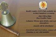 LEO Kaslik Leaders Handover ceremony and dinner