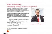 PwC's Academy, Managing, Leading  and Coaching others