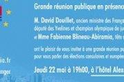 GRANDE REUNION PUBLIQUE EN PRESENCE DE DAVID DOUILLET