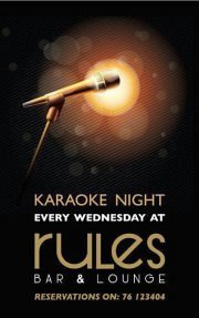 Karaoke Night Every Wednesday at Rules Pub