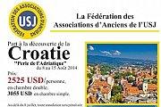 Voyage en Croatie avec les Anciens USJ