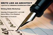 Write like an Architect - Writing Skills Workshop