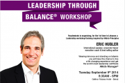Leadership through Balance Workshop with Eric Hubler