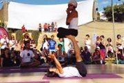 An Introduction to Acro Yoga workshop with Aaed and Zayna