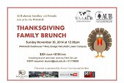 WAAAUB Thanksgiving Family Brunch