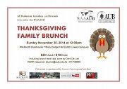 WAAAUB Thanksgiving Family Brunch