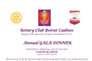"Annual Gala dinner at ""Casino du Liban"" - Rotary Club Beirut Cadmos"