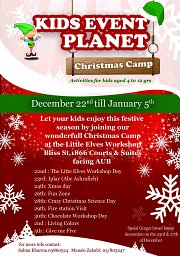 Kids Event Planet Xmas Camp