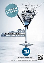 Happiness Extended Happy Hour at Nu Pop Culture Bar