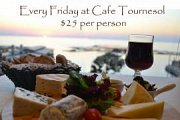 Cheese and Wine at Cafe Tournesol