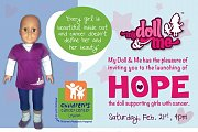 HOPE Launching, a doll supporting and empowering girls who are fighting cancer
