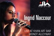 Ingrid Naccour goes acoustic at Khan Art Bar