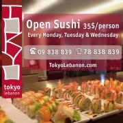 Open Sushi at Tokyo Lebanon