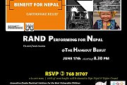 Rand Performing For Nepal at The Hangout