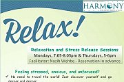 Relaxation and Stress Release Sessions