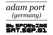 ADAM PORT (Germany) at SPORTING