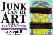 Junk can be Art for kids with Ahmad Sayyed