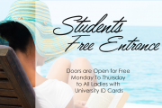 Students Free days beach entry at Riviera