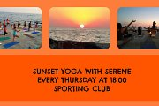 Sunset Yoga with Serene - Every Thursday at Sporting Club