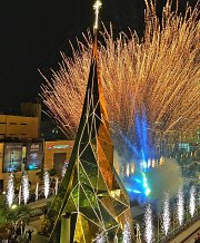 Christmas 2015 Decoration in Byblos with a special Christmas Tree