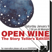 Open Wine Night   The Story Teller's edition