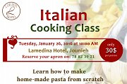 Italian Cooking Class at Lamedina Hotel Jounieh