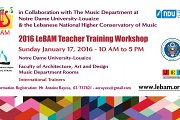 2016 LeBAM Teacher Training Workshop