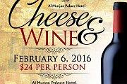 Cheese and Wine at Al Murjan Palace Hotel