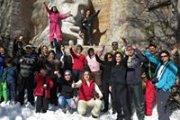 Snowshoeing SANNINE with DALE CORAZON on Sunday, February 14, 2016-  LEBANON EXPLORERS