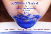AUDITION CALL for *Salome versus Bluebeard*