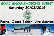 Snowshoeing Faqra Qanat Bakish Cedars Sannine