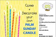 Decorate your own PALM SUNDAY CANDLE