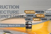 Revit/3dsMax/Vray/Rhino/Inventor/Civil3d/LEED/Maya/Primavera/Robot/Etabs - BIM-ME March 2016 Training Courses for Architects