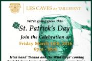 Saint Patrick's Day Celebrations at Les Caves de Taillevent