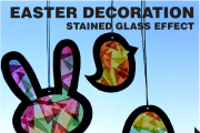 Easter Decoration for Kids | Stained Glass Effect