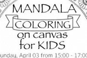 Mandala Coloring On Canvas For Kids