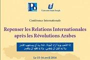 Conférence: Repenser les Relations Internationales après les révolutions Arabes