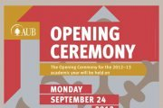 AUB Opening Ceremony for the 2012-13 academic year