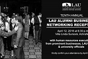 LAU's Tenth Annual Alumni Business Networking Reception