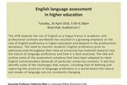 ''English Language Assessment in Higher Education'' by Dr. Catherine Elder