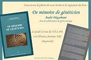 """Signature du livre """"De mémoire de généticien"""" - André Mégarbané"""