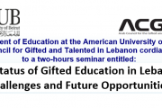 AUB & ACGT Seminar about Gifted Education