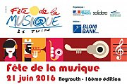 Fete de la Musique 2016 - Beyrouth, Liban - Full Program
