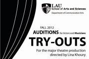 Try Outs for the LAU Major Production directed by Lina Khoury