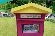 Launching the Little Free Library at Beirut Digital District's Garden